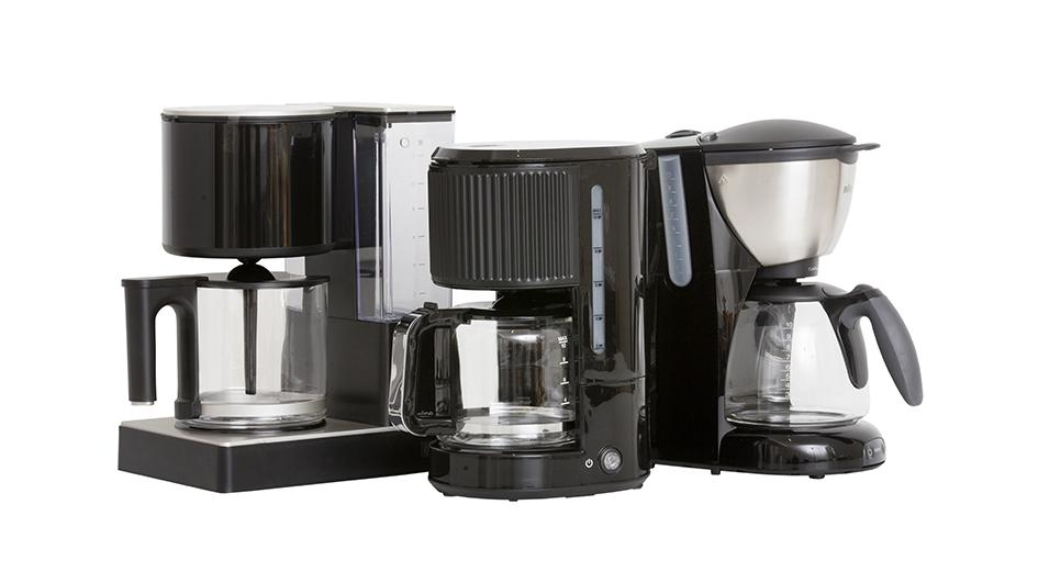 Rustas kaffetrakter er testet sammen med sammenlignbare traktere fra Braun og Coline. Foto: Rikard Kihlström
