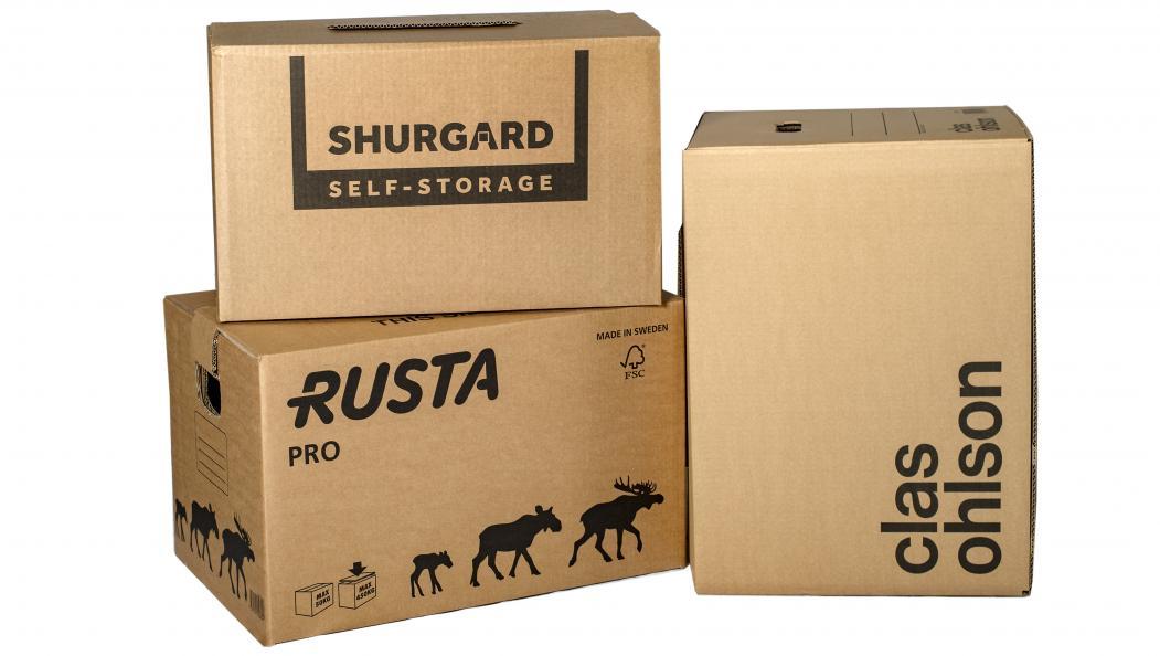 Rustas flyttekartong PRO ble testet sammen med flyttekartonger fra Shurgard og Clas Ohlson. Foto: Anna Sigge